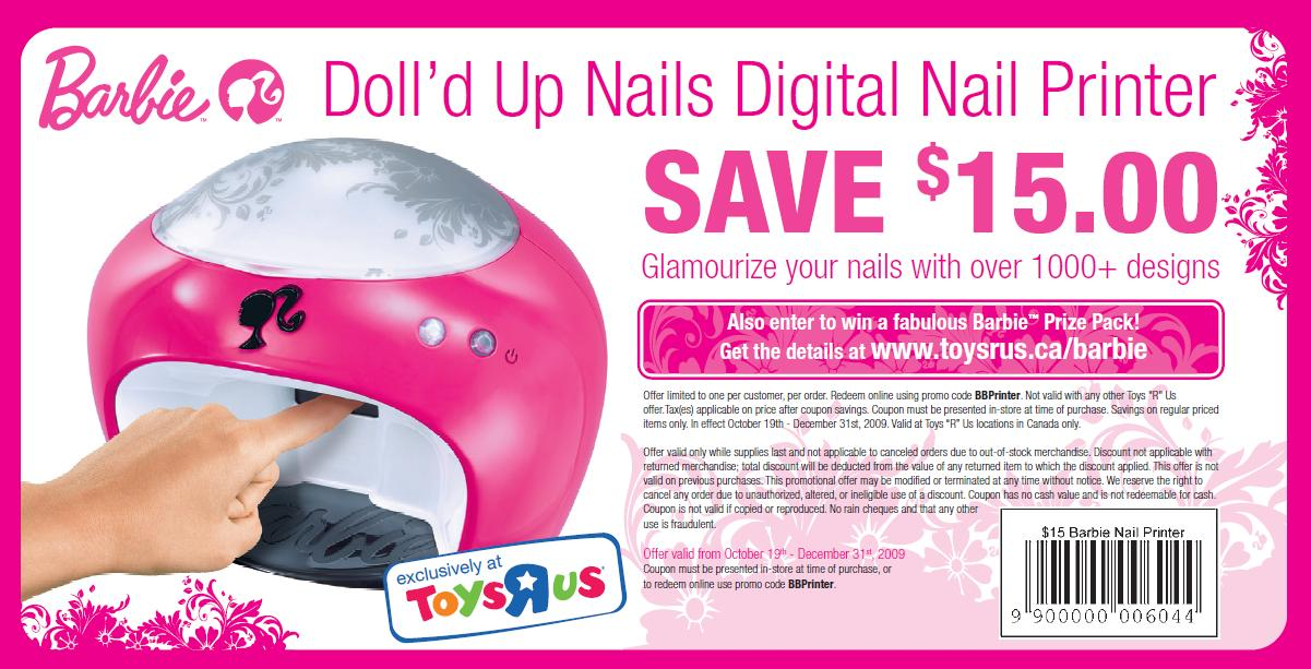 Printable barbie doll coupons