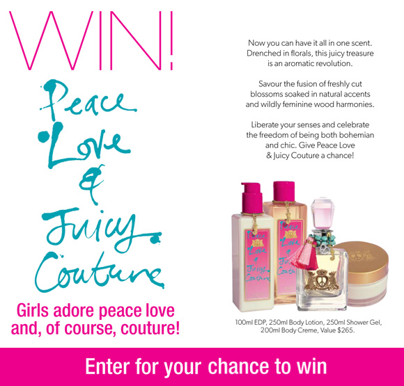 peace and love fashion. win a Peace Love and Juicy