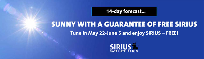 Sirius radio discounts coupons
