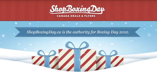 Boxing Day/Wekk Canada Flyers Sales Deals Coupons